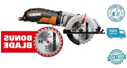 New Worx 4-1/2 in Compact Circular Saw Corded Handheld Cutte