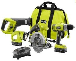 ONE 18-Volt Lithium-Ion Cordless Super Combo Kit  by Ryobi