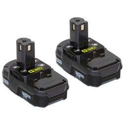 Ryobi P102  18V One+ Compact Lithium Ion Battery, 2 Pack