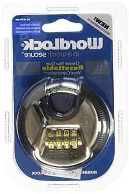 Wordlock Combination Discus Padlock – 4 Dial, Stainless St