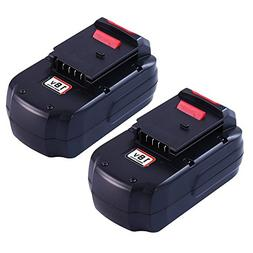 Boetpcr 2Pack PC18B Replacement for Porter Cable 18V Battery