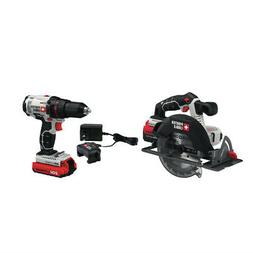 Porter-Cable PCCK605L2 20V Max Cordless Lithium-Ion Drill Dr