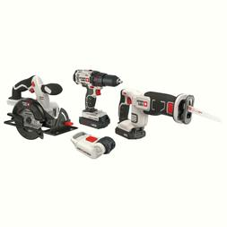 Porter-Cable PCCK616L4 20V Max Cordless Lithium-Ion 4-Tool C