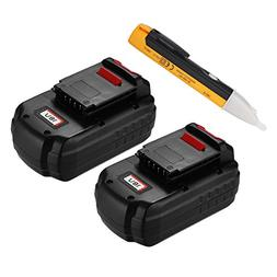 Powerextra 2 Pack 18V 3.0Ah Replacement Battery for Porter C