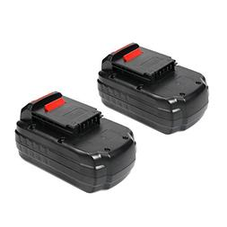 Energup 2 Pack 18V 3500mAh Replacement Battery for Porter Ca
