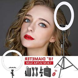 Neewer Ring Light Kit  - 18 inches, 3200-5600K, Dimmable LED