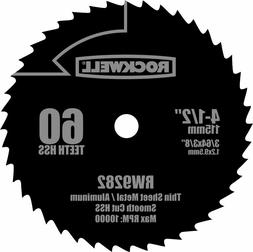 Rockwell RW9282 4 1/2-Inch 60T High Speed Steel Compact Circ