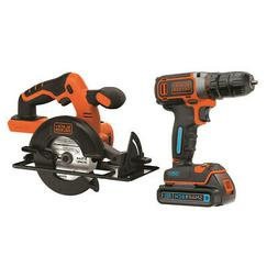 Black & Decker SMARTECH Li-Ion Drill Driver & Circular Saw K
