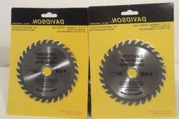 """TWO 4-3/8"""" INCH CARBIDE TUNGSTEN CIRCULAR SAW BLADE 30 TOOTH"""