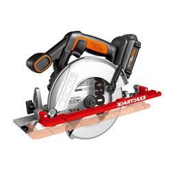 "WORX WX530L ExacTrack 20V PowerShare 6-1/2"" Cordless Circula"
