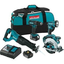 Makita XT442 18V LXT 3.0 Ah Lithium-Ion Cordless Combo Kit