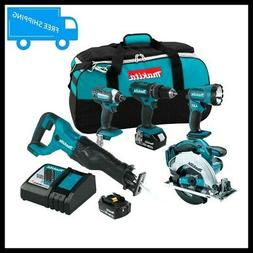 Makita XT505 18V LXT 3.0 Ah Cordless Lithium-Ion 5-Piece Com