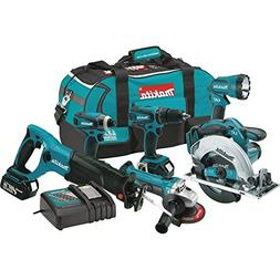 Makita XT601 18-volt LXT Lithium-Ion Cordless Combo Kit, 6-P